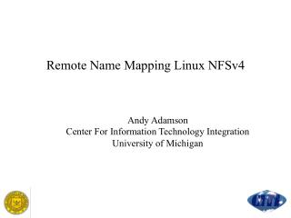 Remote Name Mapping Linux NFSv4