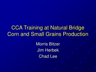 CCA Training at Natural Bridge Corn and Small Grains Production