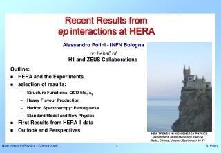 Recent Results from  ep  interactions at HERA