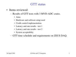 GTT status
