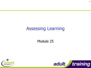 Assessing Learning