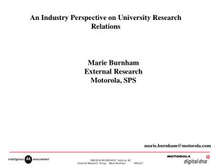 An Industry Perspective on University Research Relations