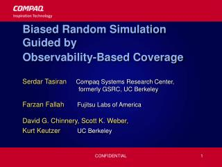 Biased Random Simulation Guided by  Observability-Based Coverage