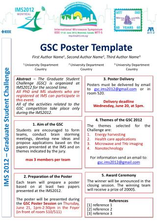 GSC Poster Template