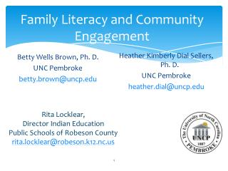 Family Literacy and Community Engagement