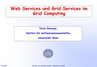 Web Services und Grid Services im Grid Computing