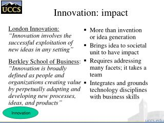 Innovation: impact