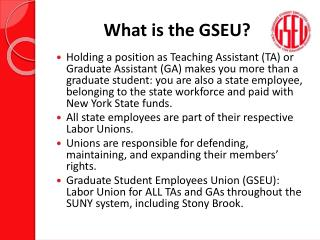 What is the GSEU?