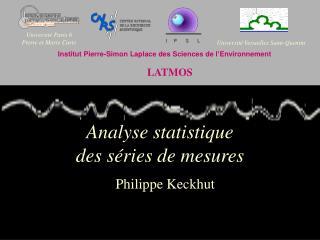 Analyse statistique  des séries de mesures