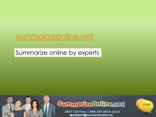Summarize Online