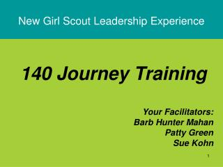 New Girl Scout Leadership Experience