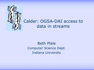 Calder: OGSA-DAI access to data in streams