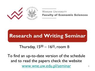 Research and Writing Seminar