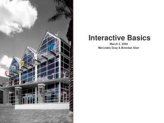 Interactive Basics
