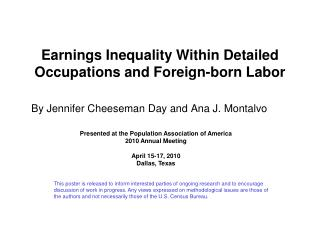 Earnings Inequality Within Detailed Occupations and Foreign-born Labor