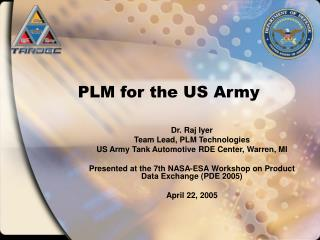 PLM for the US Army