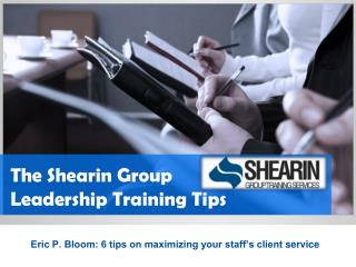The Shearin Group Leadership Training Tips for Your Client