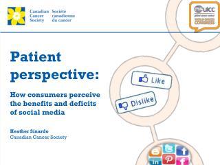 Patient  perspective: