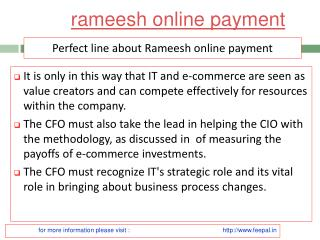 View about rameesh online payment