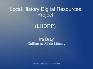 Local History Digital Resources Project (LHDRP)