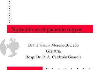 Nutrición en el paciente mayor