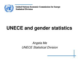 UNECE and gender statistics