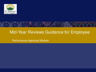 Mid-Year Reviews Guidance for Employee