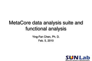 MetaCore data analysis suite and functional analysis