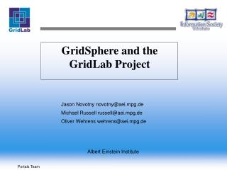 GridSphere and the  GridLab Project
