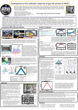 Development of the collimator response of gas slit camera of MAXI