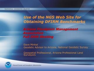 Use of the NGS Web Site for Obtaining DFIRM Benchmarks