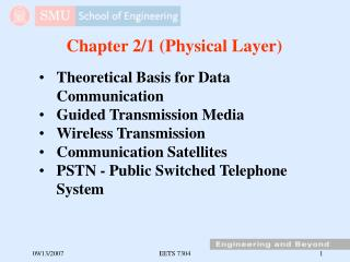 Chapter 2/1 (Physical Layer)