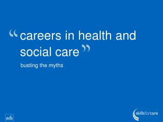 careers in health and social care