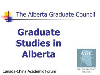 The Alberta Graduate Council