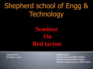 Shepherd school of Engg & Technology
