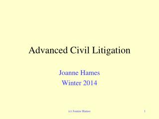 Advanced Civil Litigation