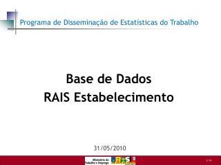 Base de Dados RAIS Estabelecimento