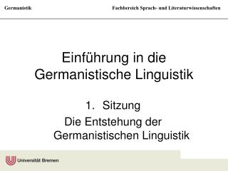 Einf�hrung in die Germanistische Linguistik