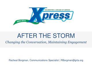 Racheal Borgman, Communications Specialist  |  RBorgman@grta
