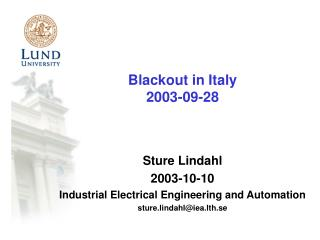 Blackout in Italy 2003-09-2 8