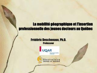 La mobilité géographique et l'insertion professionnelle des jeunes docteurs au Québec