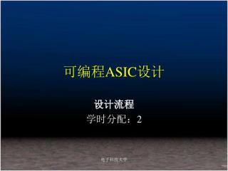 可编程 ASIC 设计