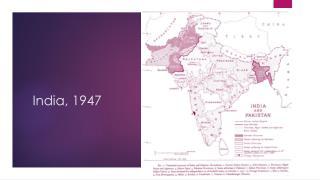 India, 1947