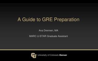 A Guide to GRE Preparation