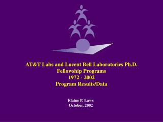 AT&T Labs and Lucent Bell Laboratories Ph.D. Fellowship Programs  1972 - 2002 Program Results/Data