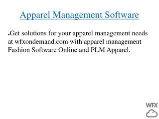 Apparel Management Software