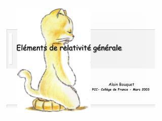 El ments de relativit  g n rale