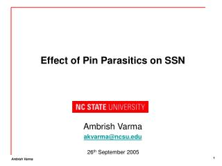 Effect of Pin Parasitics on SSN