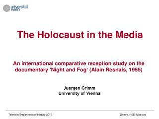 The Holocaust in the Media