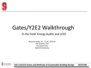 Gates/Y2E2 Walkthrough